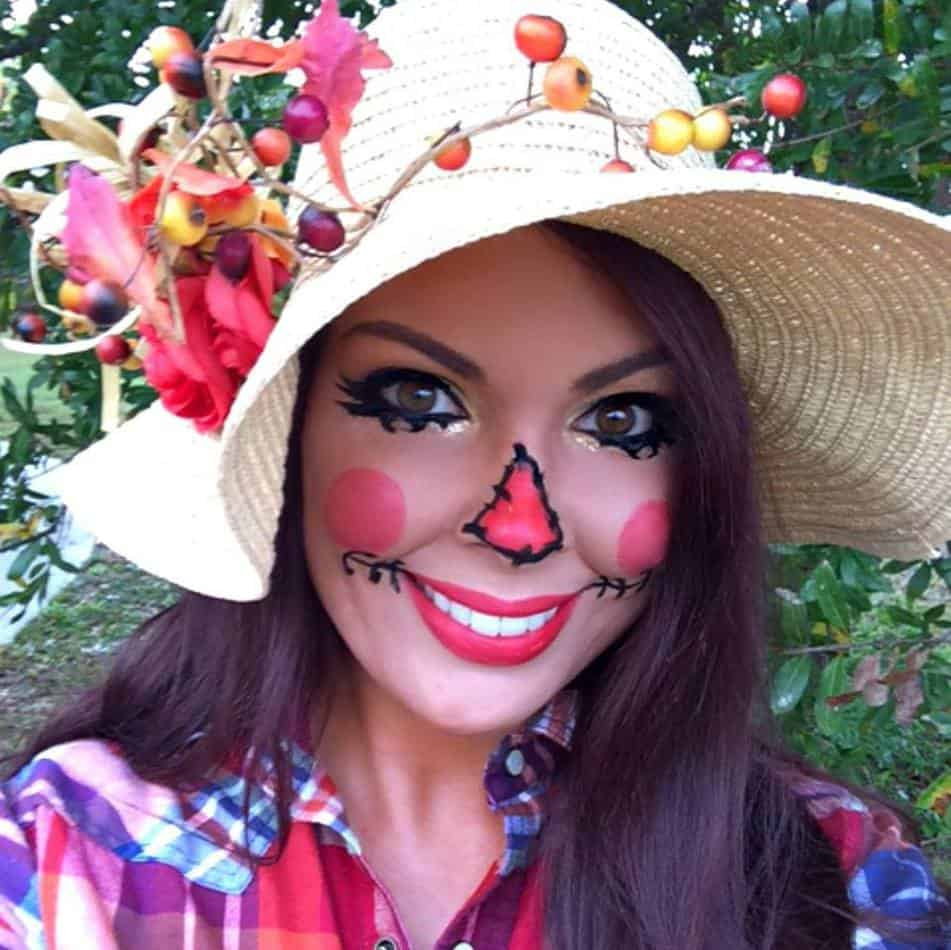 Happy halloweenie diy scarecrow costume makeup diy scarecrow makeup costume solutioingenieria Choice Image