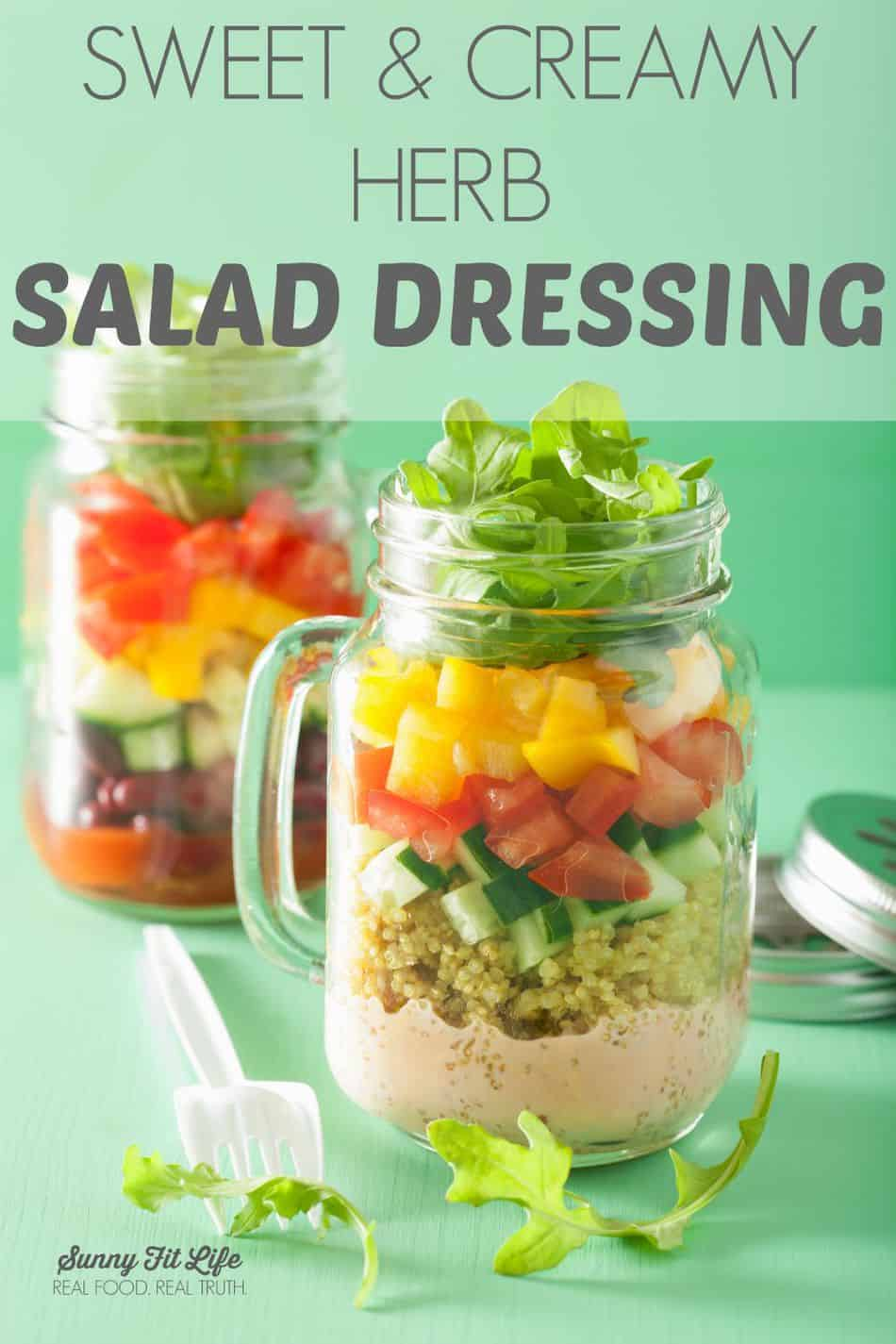 Healthy Salad Dressing: Sweet and Creamy Herb