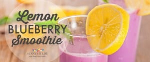 Healthy Smoothie: Lemon Blueberry