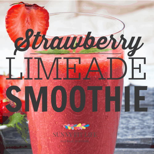Healthy Smoothie Recipe: Strawberry Limeade