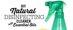 Homemade Natural Disinfecting Cleaner with Essential Oils